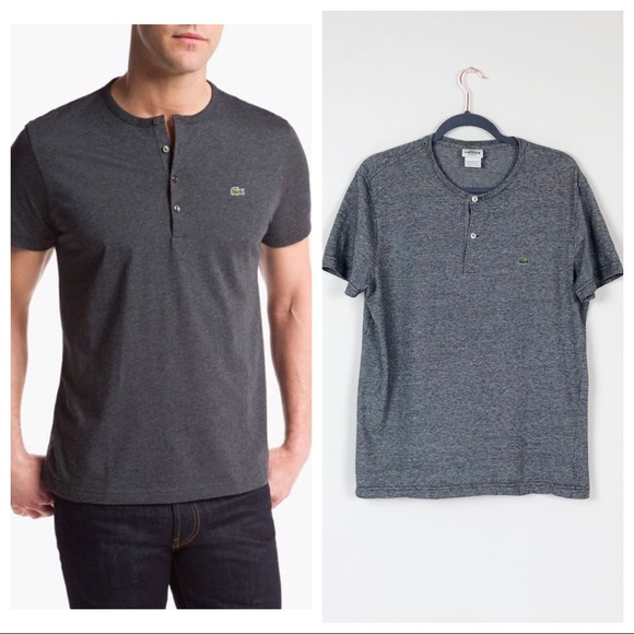 Lacoste Other - Lacoste • Short Sleeve Cotton Jersey Henley